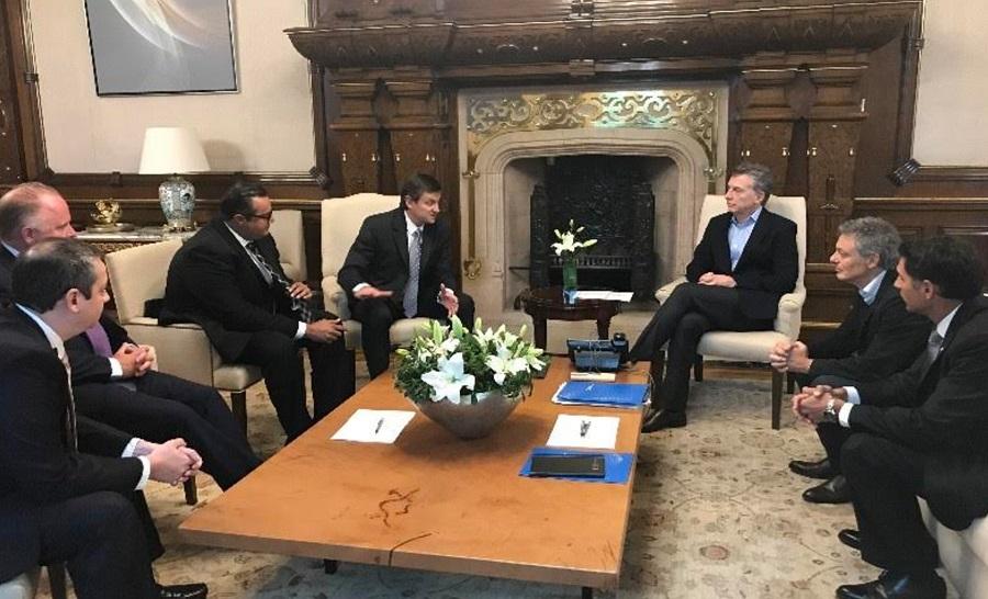 Ejecutivos de PwC Argentina le anunciaron inversiones al Presidente Mauricio Macri