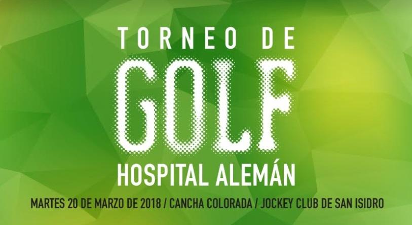 En marzo será la nueva edición del Torneo de Golf del Hospital Alemán