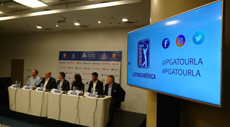 Lanzamiento del torneo Molino Cañuelas Championship perteneciente al PGA Tour LA