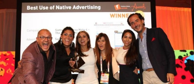 "Teads, ganador de ""mejor uso de native advertising"" en el festival of media latinoamérica"