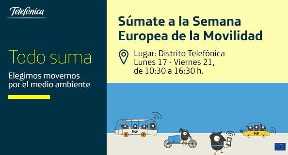 Telefónica participa de la Semana de la Movilidad en Madrid