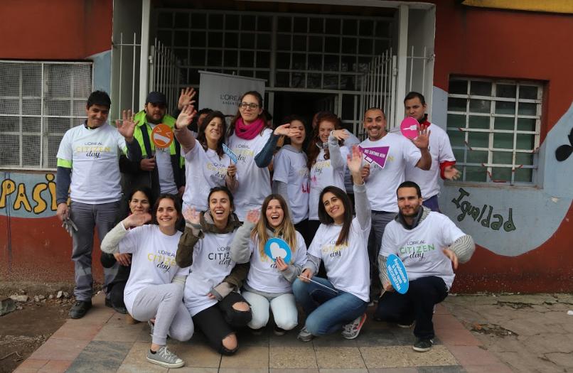 L'Oréal participó de la edición del Citizen Day, una jornada solidaria en todo el mundo