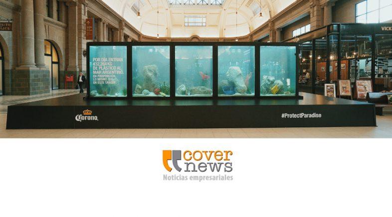 Corona concientiza sobre la problemática de los desechos plásticos en la Estación Retiro